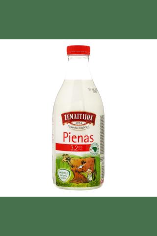 Pienas ŽEMAITIJOS, 3,2% rieb., 1 l
