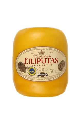 Puskietis sūris LILIPUTAS, 50%, 1kg