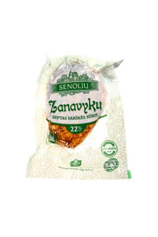 Keptas varškės sūris Zanavykų SENOLIŲ, 22% rieb., 1 kg