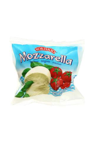 Nenokintas sūris ROKIŠKIO MOZZARELLA, 45% rieb., 130 g