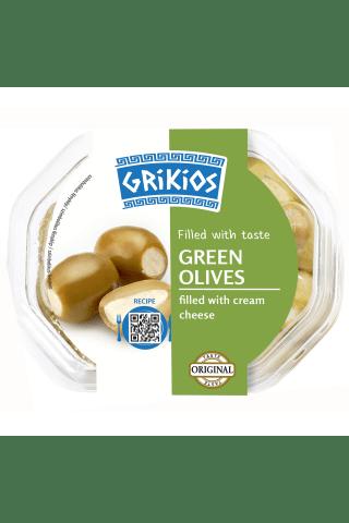 Žaliosios alyvuogės įdarytos šviežiu sūriu, 250 g