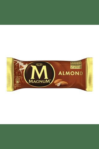 Ledai  su pieniško šokolado glajumi ir migdolais ant pagaliuko MAGNUM ALMOND, 120 ml