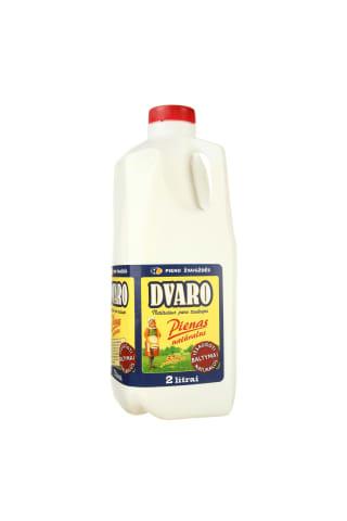 Natūralus pienas DVARO, plast. but., 2 l