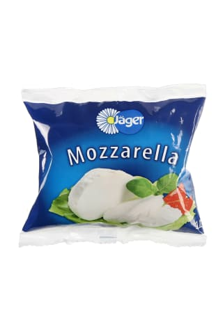 Šviežias Sūris JAGER MOZZARELLA 45% rieb., 125 g