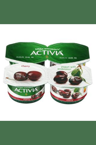 Jogurtas su vyšniomis ir bifido bakterijomis ACTIVIA ACTIREGULARIS, 2,6% rieb., 480 g