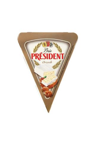 Sūris su riešutais BRIE PRESIDENT, 32% rieb., 125 g