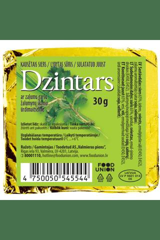 Kausētais siers Dzintars ar zaļumiem 30g