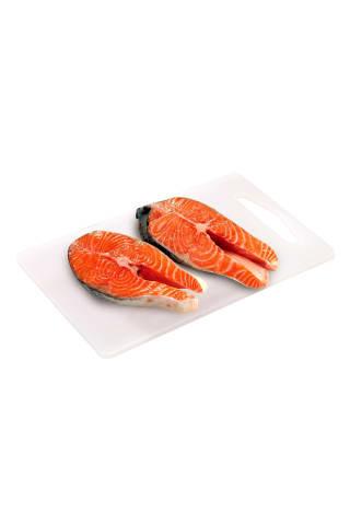 Atšaldytos skrostos atlantinės lašišos kepsneliai (Salmo salar), 1 kg