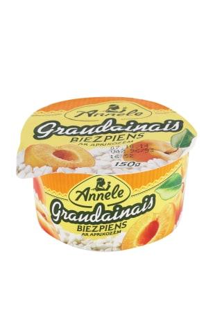 Graudainais biezpiens Annele ar aprikozēm 150g