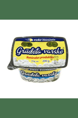 Grūdėta varškė PIENO ŽVAIGŽDĖS, 7% rieb., 200 g