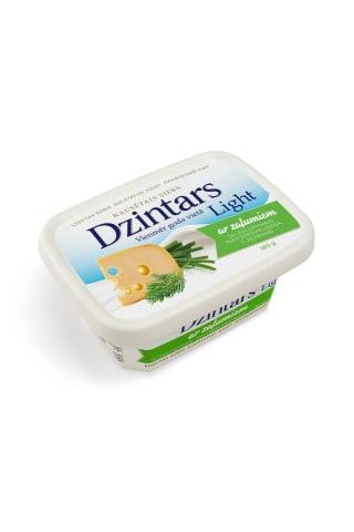 Kausēts siers dzintars light ar zaļumiem 180g