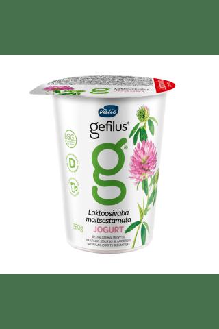 Natūralus jogurtas be laktozės VALIOGEFILUS, 2,5% rieb., 380 g