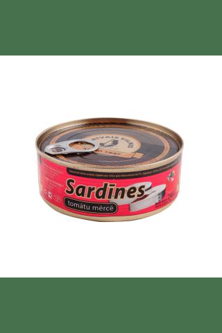Sardīnes tomātu mērcē 240g/156g ar atsl.