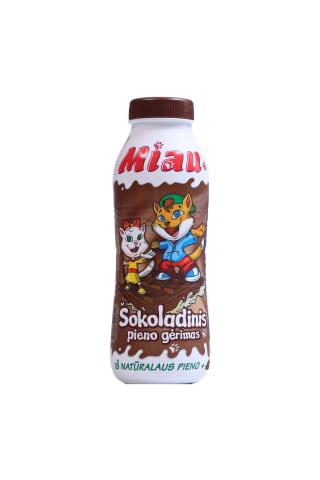Piena dzēriens Miau šokolādes 2,3% 450ml