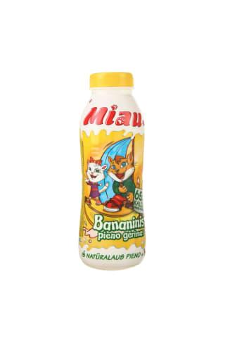 Sterilizuotas bananinis pieno gėrimas MIAU, 2,3% rieb., 0,45 l