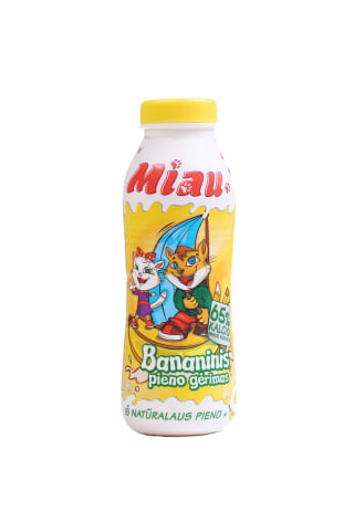 Piena dzēriens Miau banānu 2,3% 450ml