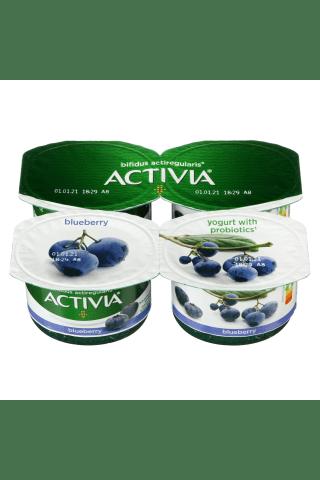 Jogurtas su mėlynėmis ir bifido bakterijomis ACTIVIA ACTIREGULARIS, 2,6% rieb., 480 g