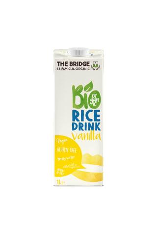 Vanilės skonio ryžių gėrimas BIO, 1 l