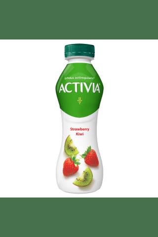 Dzeramais jogurts Activia zemeņu un kivi 300g
