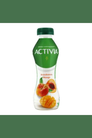 Geriamas jogurtas su mango ir persikais ACTIVIA, 300 g