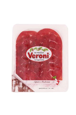 Liellopu gaļa Veroni Bresaola šķēlēs 70g