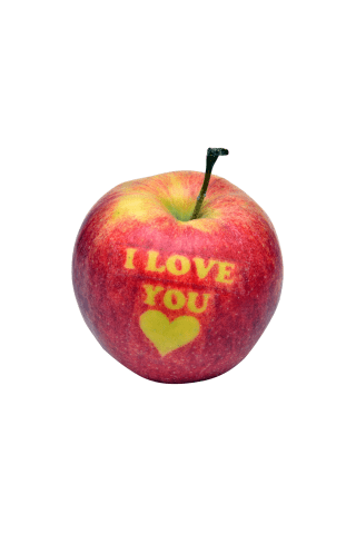 Obuolys I LOVE YOU, 1 vnt