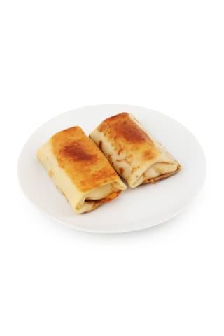 Pankūka ar siera-šķiņķa pildījumu cepta