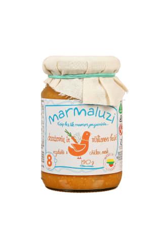 Vištienos ir daržovių košė MARMALUZI, 8 mėn, 190 g