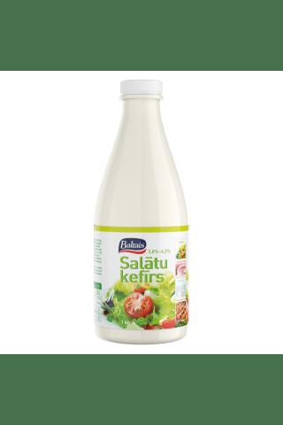 Salātu kefīrs 4,3% Baltais 1kg pudelē