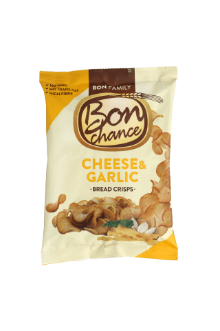 Duonos traškučiai su sūriu ir česnaku BON CHANCE, 120 g