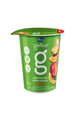 Jogurts Gefilus persiku papaijas 2% 380g