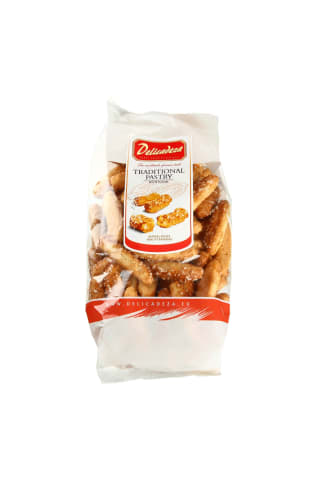 Traškūs sausainiai su cukrumi DELICADEZA, 125 g