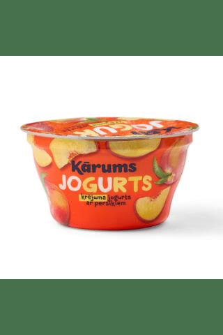 Jogurts Kārums krējuma ar persikiem 150g