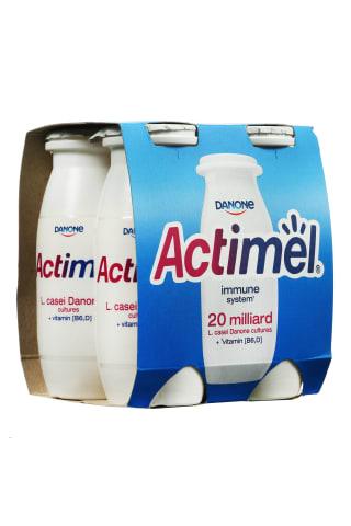 Natūralaus skonio jogurtinis gėrimas ACTIMEL, 1,5% rieb., 4 vnt × 100 g