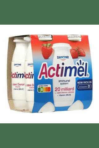 Braškių skonio jogurtinis gėrimas ACTIMEL, 1,5% rieb., 4 vn. × 100 g