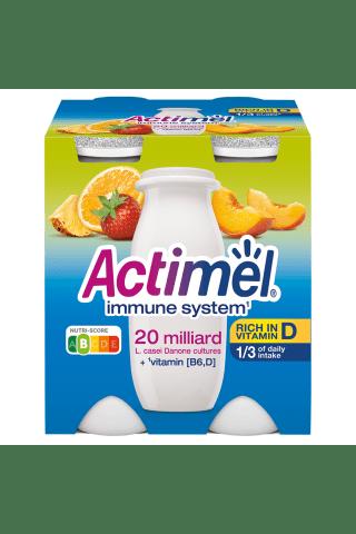 Jogurta dzēriens Actimel multiaugļu 4x100g