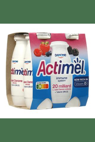 Miško uogų skonio jogurtinis gėrimas ACTIMEL, 1,5% rieb., 4 vn. × 100 g