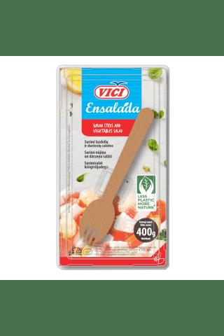 Krabų lazdelių salotos su daržovėmis ENSALADA, 400g