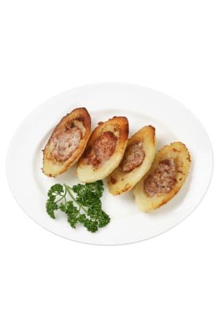 Apkepti tarkuotų bulvių cepelinai su mėsa, 1 kg