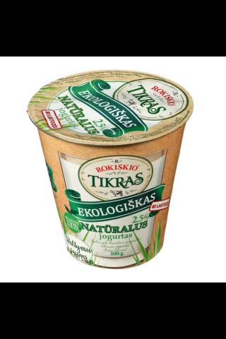 Ekologiškas natūralus jogurtas ROKIŠKIO TIKRAS, 3,5% riebumo, 300g