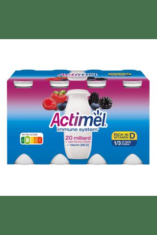 Miško uogų skonio jogurtinis gėrimas ACTIMEL, 8 vnt × 100 g