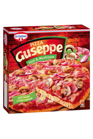 Šaldyta pica Guseppe su grybais ir kumpiu, 425 g