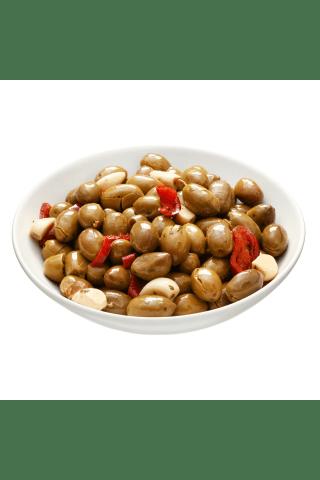 Traiškytos marinuotos alyvuogės, 1kg
