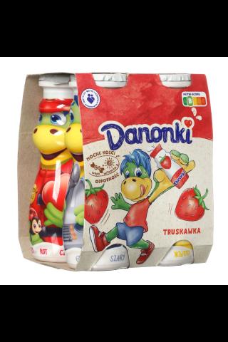 Braškių skonio jogurto gėrimas DANONKI, 4*100 g