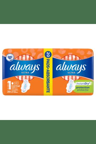 Higiēniskās paketes Always ultra duo normal+ 20gab.