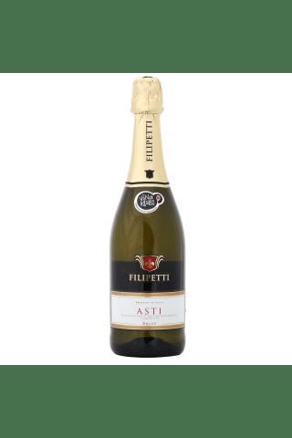 Dzirkstošais vīns Filipetti Moscatel Asti saldais 7,5% 0,75l