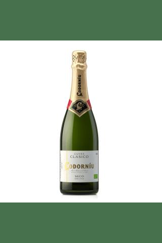 Dzirkstošais vīns Codorniu Clasico Cava Macabeo pussausais 11,5% 0,75l
