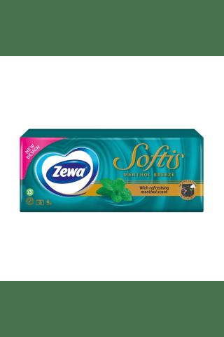 Vienkartinės nosinaitės ZEWA SOFTIS MENTHOL, 4 sl., 9x10 vnt.