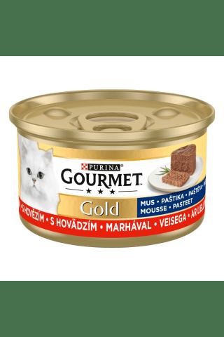 Kompleksa barība mājas pieaugušiem kaķiem Gourmet gold liellopu 85g