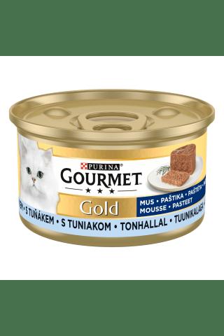 Pilnvērtīga barība pieaugušiem kaķiem Gourmet ar tunci (istabas) dzīvnieku barība pieaugušiem kaķiem 85g